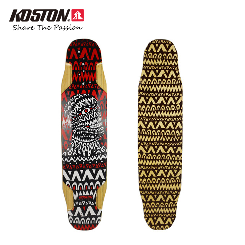 Koston Professional Longboard Deck 2017 New Style 40 Inch Bamboo And Glass fiber Hybrid Material Board All Round Use Long Board koston lb202 downhill and freeride style complete longboard