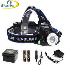 5000 Lumens Zoom LED head lamp 3 Modes Super Bright Waterproof LED Headlamp Torch for Hunting Hiking Camping light kit