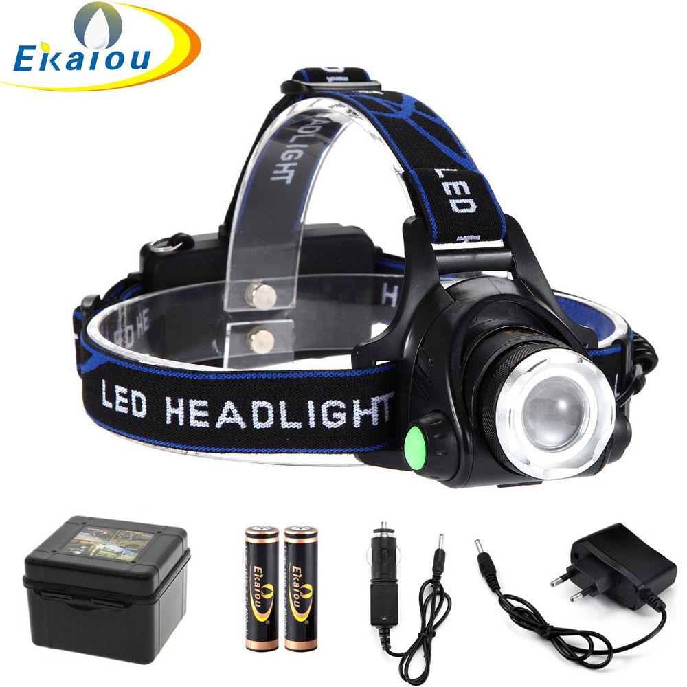 LED Head Lamp Zoom 3 Modes Super Bright Waterproof LED Headlamp Torch For Hunting Hiking Camping Light
