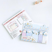 1pack/lot Cute Cartoon Memo Pad Index Sticky Notes Student Notebook Label Bookmark Stickers School Supply Kawaii Stationery