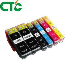 6 PCS T2621 26XL Ink Cartridge Compatible for INK Expression Premium XP-600 XP-605 XP-700 XP-800 XP-610 XP-615 XP-710 XP-810