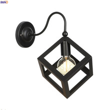 IWHD RH Edison LED Wall Light Fixtures Black Iron Metal Vintage Loft Industrial Wall Lamp Sconce Lighting Wandlamp Lampara Pared iwhd vintage glass lampara pared creativeretro iron loft wall lamp black bedroom lighting stairs beside reading light fixture
