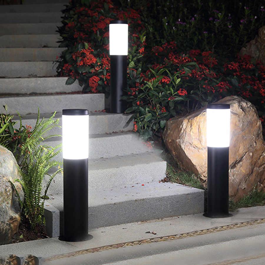 Thrisdar Outdoor Led Bollard Lawn Light Stainless Steel Landscape Garden Pathway Pillar Villa Courtyard Park Lamp