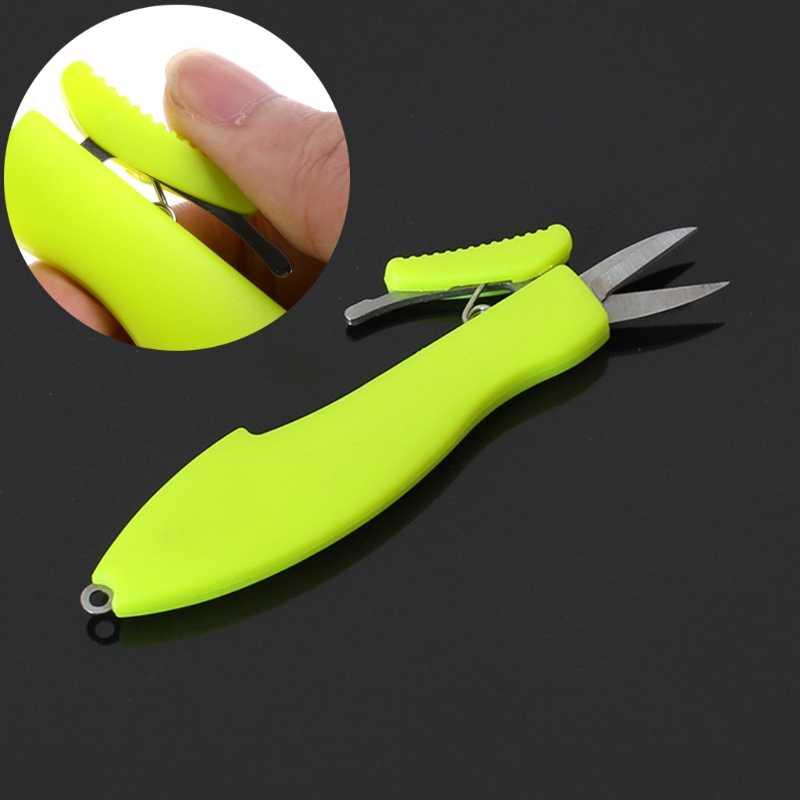 مصغرة مقص الصيد الرصاص خط قطع الجلد المقاوم للصدأ مقص الخط القاطع القصاصات المقص portabletool الصيد #20/25l