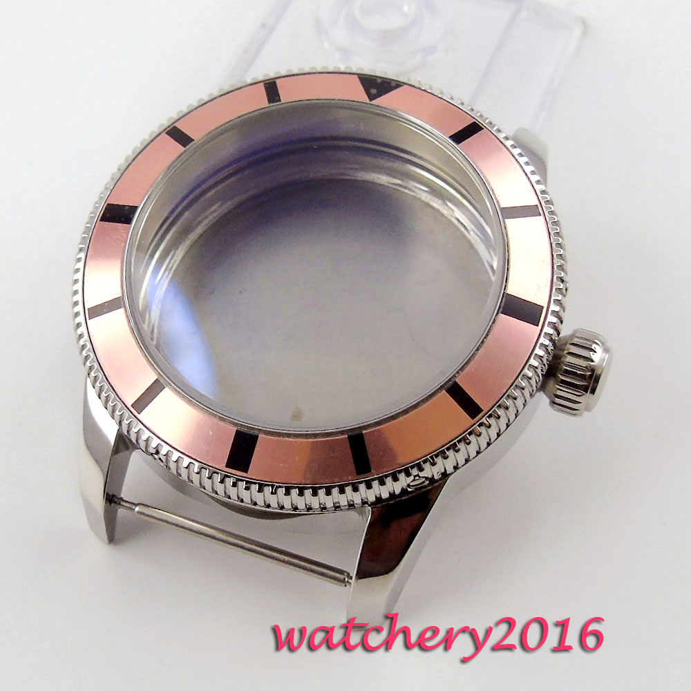 лучшая цена 46mm 316L stainless steel fit ETA 2824 2836 Movement Men's Watch Case