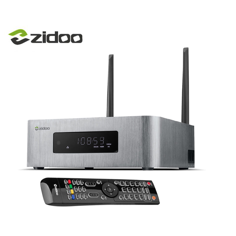 Zidoo X10 Android 6.0 4K TV Box 2GB RAM+16G Quad-core CPU Dual-band WIFI 1000M LAN Set-top Box 10 Bit HDMI 2.0 HDR Media Player fiscal end aluminum fanless embedded computer with i3 3217u 6com 4g ram onboard 2 intel lan support wake on lan dual 24bit lvds