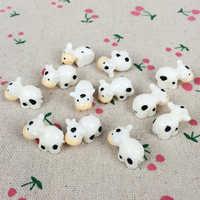 10 piezas Kawaii Flatback resina vaca hadas miniaturas de jardín terrario figuritas decorativas artesanía: 15*18MM