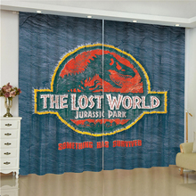 Jurassic Park curtains for window dinosaur blinds finished drapes blackout parlour room