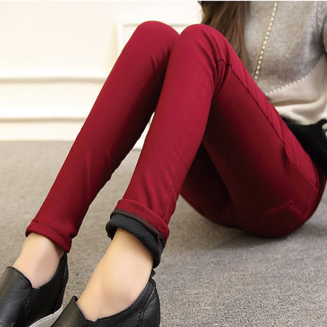 Maternity Pants Pencil Pregnancy Pants For Pregnant Woman Winter Warm Pregnancy Clothes Underpant Pregnant Trousers