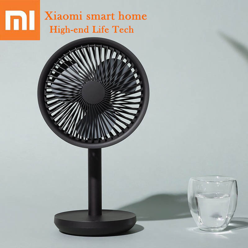 Xiaomi SOLOVE Desktop Fan 60 Shaking Head Height Wind Speed Adjustable 4000mAh USB Chargeable Light Portable