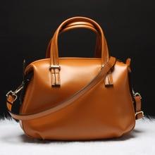 2015 Fashion Design Hobos Bag Women s Genuine Leather Casual Bag Real Leather Handbags Massenger Bag