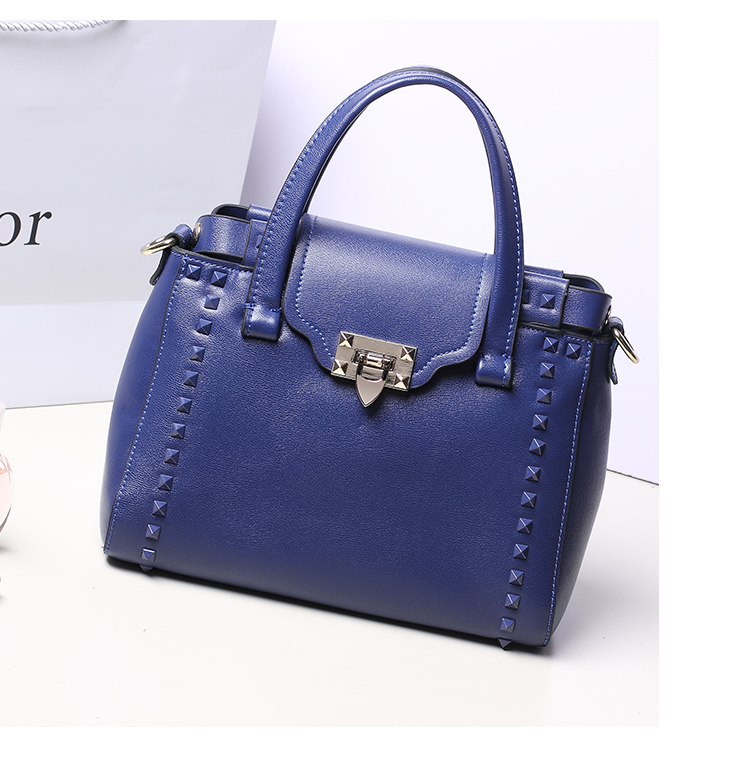 messenger bag New fashion Rivet women shoulder handbag PU leather Crossbody bag