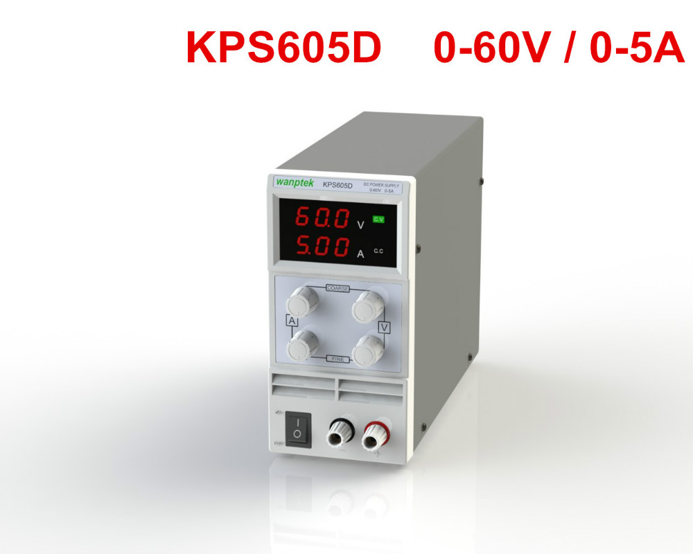 Newest mini switching DC power supply KPS605D 60V 5A Single Channel adjustable SMPS Digital 0.1V 0.01A DC power supply kuaiqu mini dc power supply switching laboratory power supply digital variable adjustable power supply 0 60v 0 5a ps605d