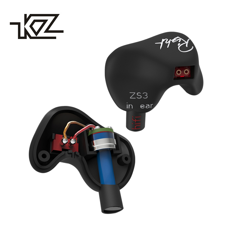 KZ ZS3 In Ear Headphones Stereo Ear Hook Running Sport Earphone Noise Cancelling Earbuds Earphones With Microphone original xiaomi mi hybrid earphone in ear 3 5mm earbuds piston pro with microphone wired control for samsung huawei p10 s8