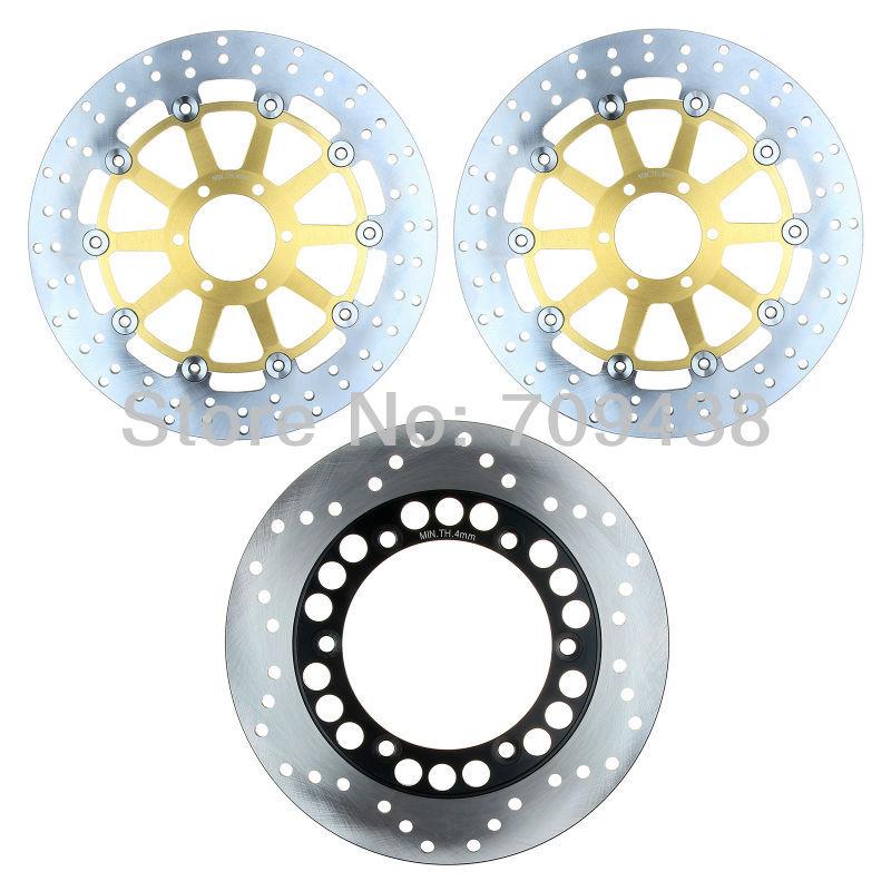 Full Set Round Front+Rear Brake Disc Rotor For YAMAHA FZS 600 Fazer 1998-2003 1999 2000 FZS600 S Fazer 2001-2003 2002