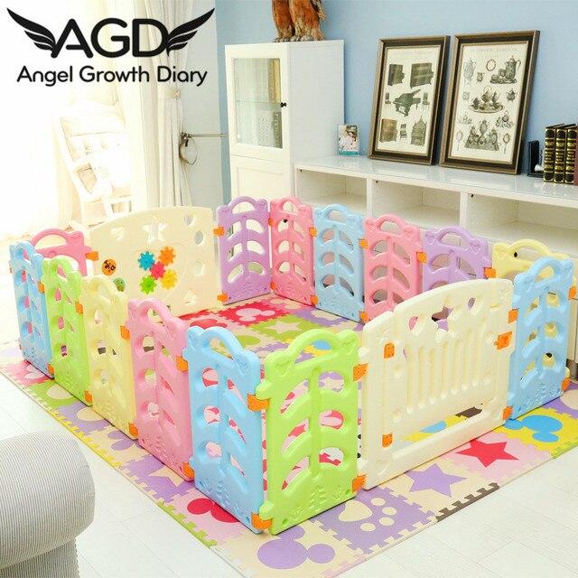 2016 baby laufstall spiel zaun kunststoff laufgitter f r babys kinder zaun sicherheit fechten. Black Bedroom Furniture Sets. Home Design Ideas