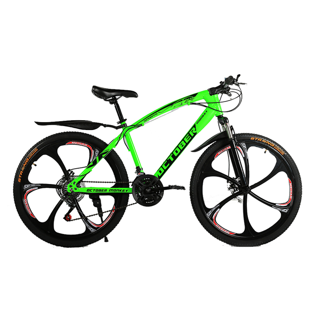 Brand OCTOBER MONKEY, Russian warehouse and Wholesale 26 inch 21 speed Double Disc Brake Mountain Bike Road Bicycle