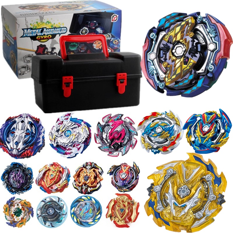 Tops Set Launchers <font><b>Beyblade</b></font> Toys <font><b>B</b></font>-<font><b>131</b></font> <font><b>B</b></font>-122 <font><b>B</b></font>-130 Toupie Metal God <font><b>Burst</b></font> Spinning Top Bey Blade Blades Toy bay blade bables image