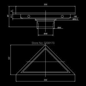 Image 2 - Recentemente Nascosta Tipo Triangolo Piastrelle Inserto di Scarico a Pavimento Griglie di Scarico della Doccia SUS304 In Acciaio Inox Scarico A Pavimento Accessori Per il Bagno