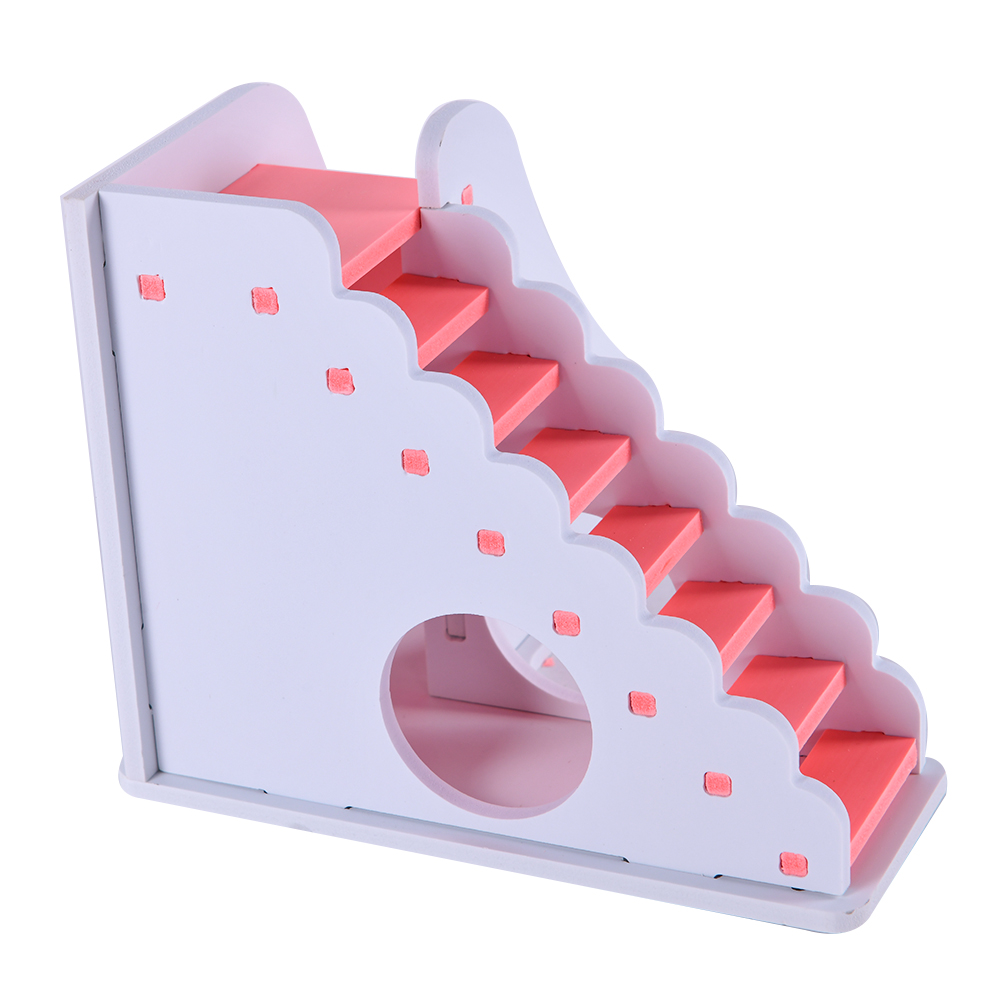 Wooden House Guinea Pig Mice Stairs Cockloft Small Pet Playing Watching Stage Wooden Cages Hamster  (16)