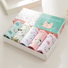 цена 5 pcs Children's Soft Cotton Underwear Kids Cartoon Printed Little girls Underwear boxer briefs Breathable Comfort  panties в интернет-магазинах