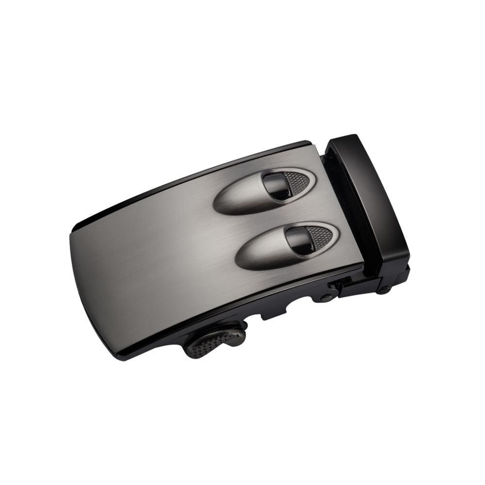 Barry. Wang ceintures en cuir de Crocodile avec boucle automatique ceinture de marque de luxe en cuir véritable ceintures marron noir pour HZ-0045 masculin - 4