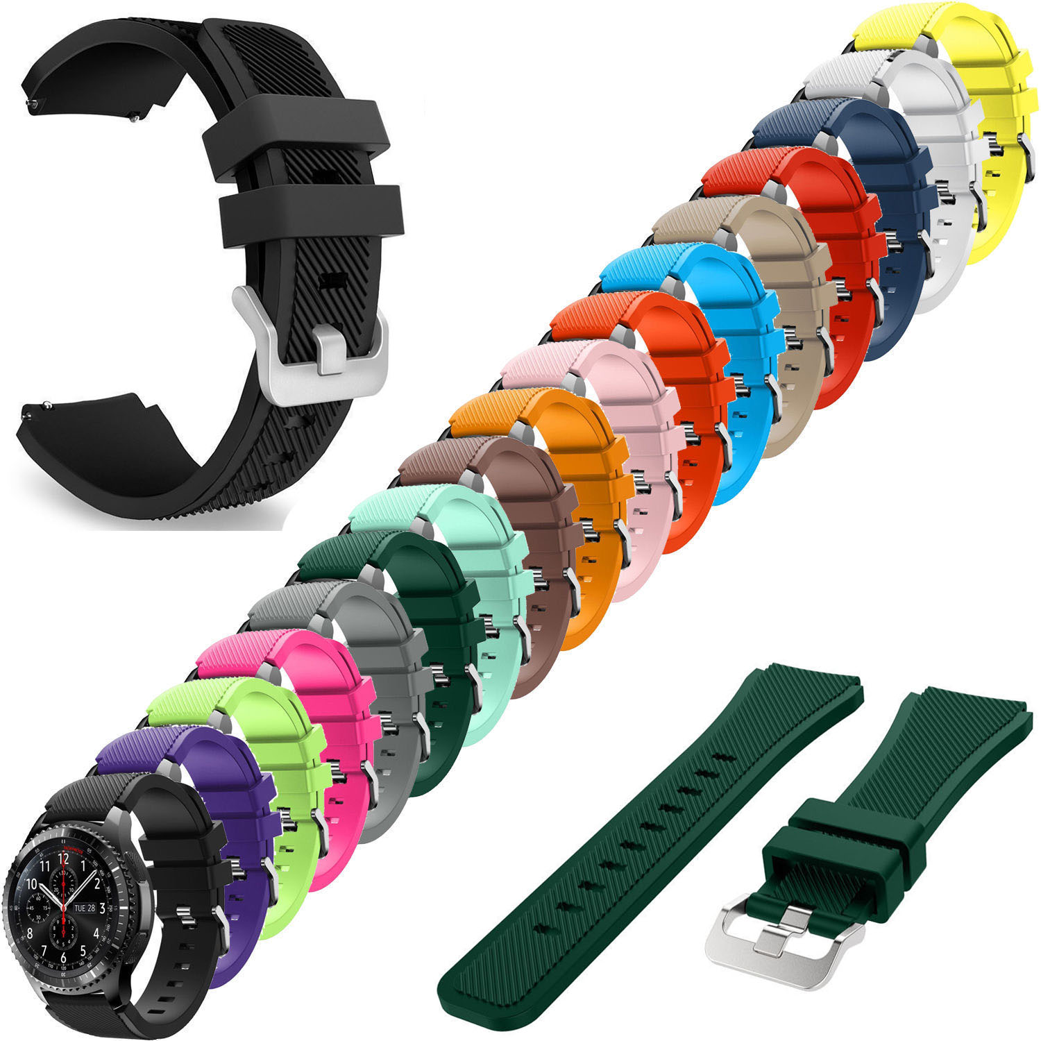 Gear S3 Frontier Strap For Samsung Galaxy Watch 46mm Band Gear S3 Classic Smart Watch Bracelet 22mm Silicone Watchband