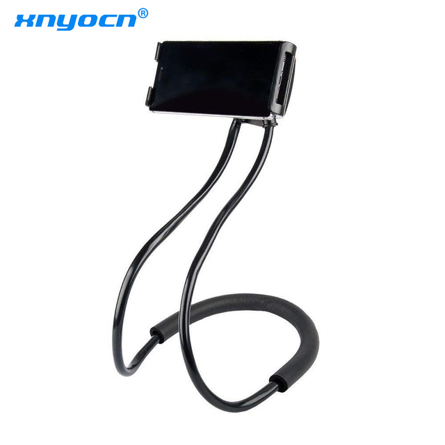 Xnyocn Lazy Neck Phone Holder Stand for IPhone X 7 8 Desk 360 Degree Rotation Mobile Phone Mount Bracket Cell Phone Holder Stand