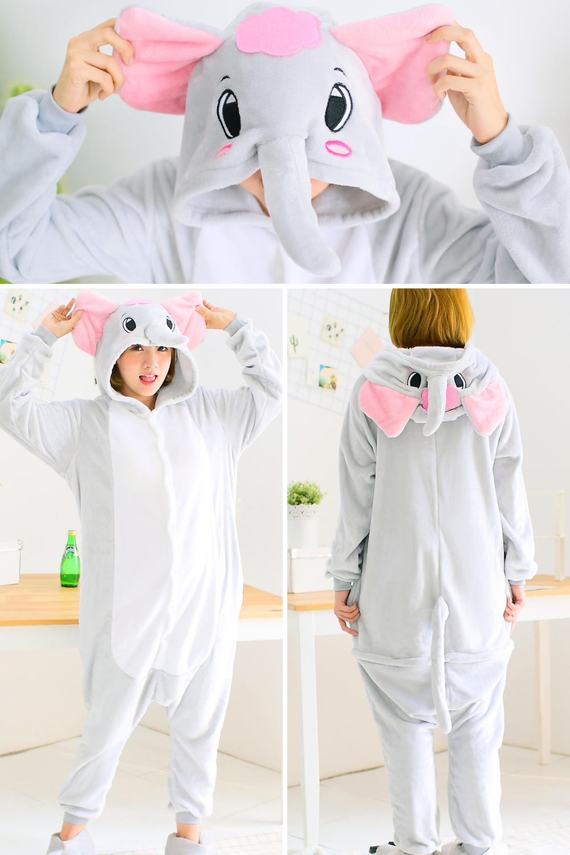 HTB1JsQSRFXXXXbLaXXXq6xXFXXXG - Pink Unicorn Pajamas Sets Flannel Pajamas Winter Nightie Stitch Pyjamas for Women Adults