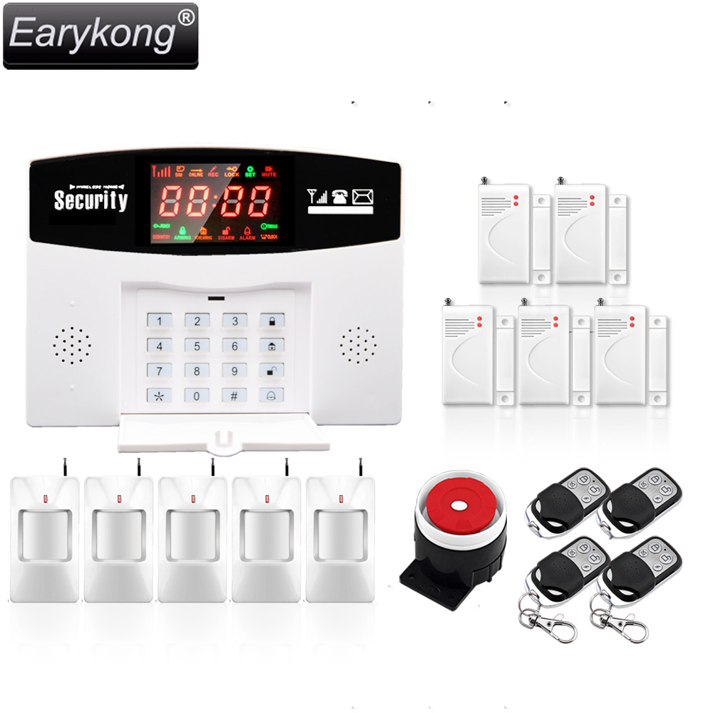 Smart APP Menu LCD Wireless 433MHZ SMS GSM Dual Network Home automation kit Burglar Security Detector Sensor Alarm Systems gsm lcd wireless 433 smart burglar security alarm system detector sensor kit remote control auto dial sms outdoor siren