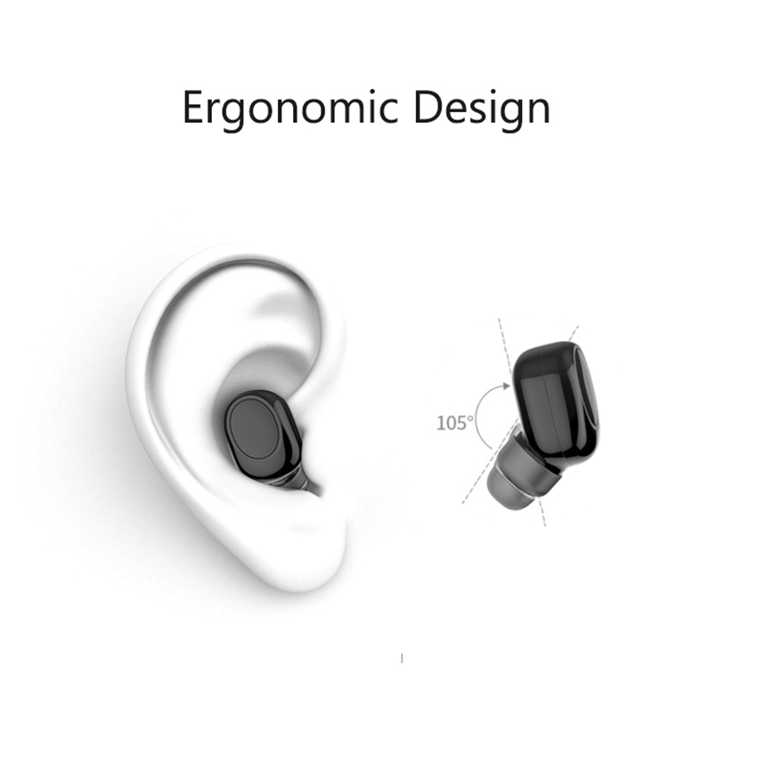 X11 Mini Bluetooth Wireless Earphone Invisible Earbud Portable Handsfree Headset Magnetic USB Charger with MIC for iPhone Phones 2
