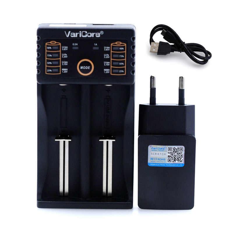 Varicore V40 v20i V10 U4 Oplader voor 3.7 in 18650 26650 18500 16340 14500 18350 Lithium-ion batterij 1.2 in AA/AAA NiMH Batterijen