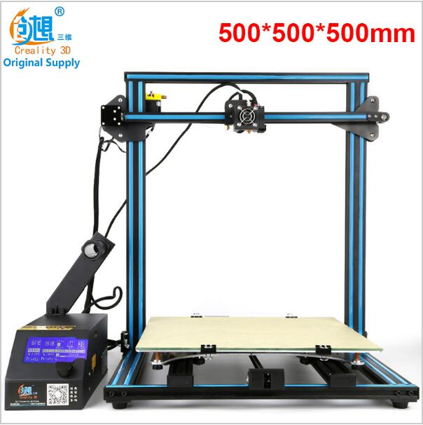 CREALITY 3D CR-10 Series Large 3D Printer Large Printing Size 500*500*500mm DIY Kit 3D Printing Machine With Aluminum Hotbed metal frame linear guide rail for xzy axix high quality precision prusa i3 plus creality 3d cr 10 400 400 3d printer diy kit
