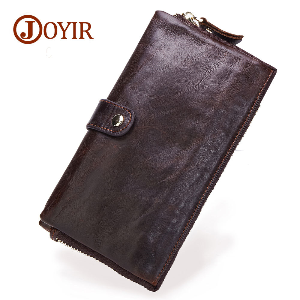 Men leather wallet high quality zipper wallets Genuine leather long purse male clutch large capacity ID Card Holder Carteira double zipper men clutch bags high quality pu leather wallet man new brand wallets male long wallets purses carteira masculina