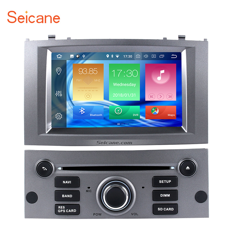 Seicane 8-core Android 8.0 4GB RAM 32GB ROM Car Stereo CD DVD Player  for 2004-2010 Peugeot 407 GPS Navigation systemSeicane 8-core Android 8.0 4GB RAM 32GB ROM Car Stereo CD DVD Player  for 2004-2010 Peugeot 407 GPS Navigation system