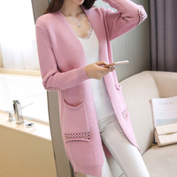 Posture Autumn Women Sweater Coat In The Korean Version Of The New Long Dresses Loose