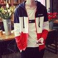 New Fashion Mens long sleeve Splicing Cardigan jacket male Casual Hooded Hoodies plus size 5XL Hip Hop Clothing Sweatshirts