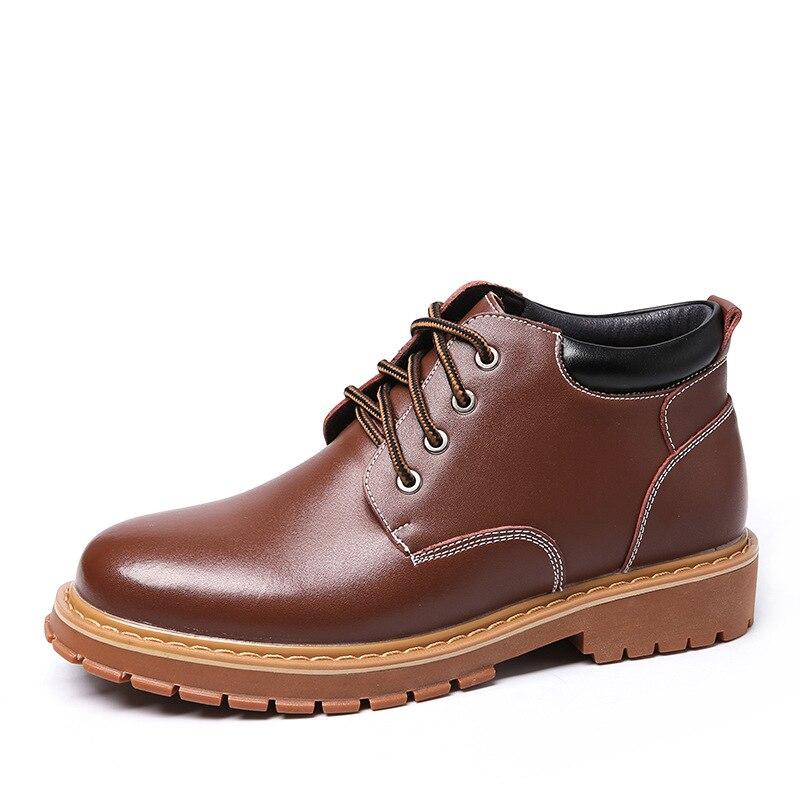Sapatos Segurança Botas Homem Mens Casual Primavera Black Mxz810790 Pesca Trabalho De Couro Genuína brown q1dtXtnw