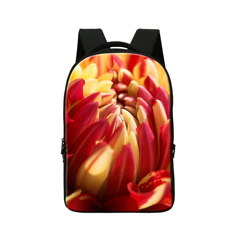 2016 3D flower backpacks for college students laptop cases 14,girls bookbags,mochila,womens computer back pack,best bookbags