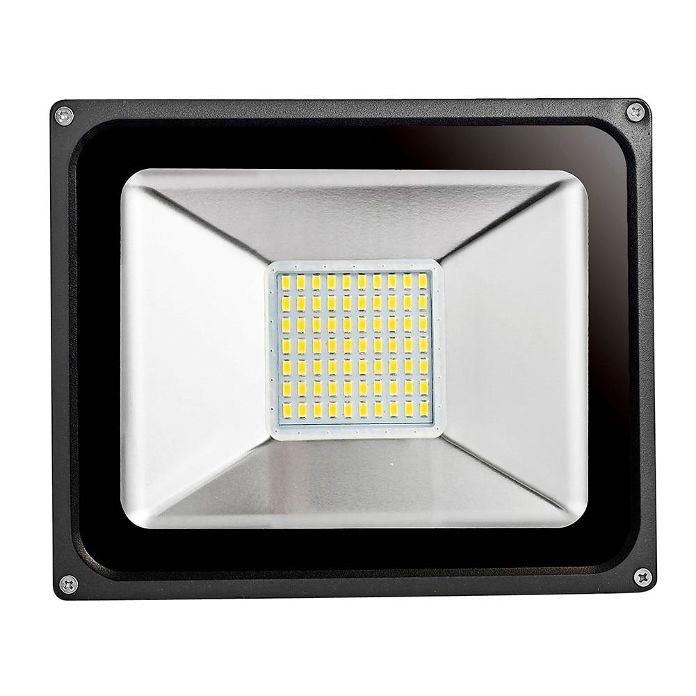 HOT 10W 20W 30W 50W 100W 220V kültéri LED-es fényszóró vízálló IP65 fényszóróval kerti utcai árvízvilágítású LED-es kivetítő lámpa