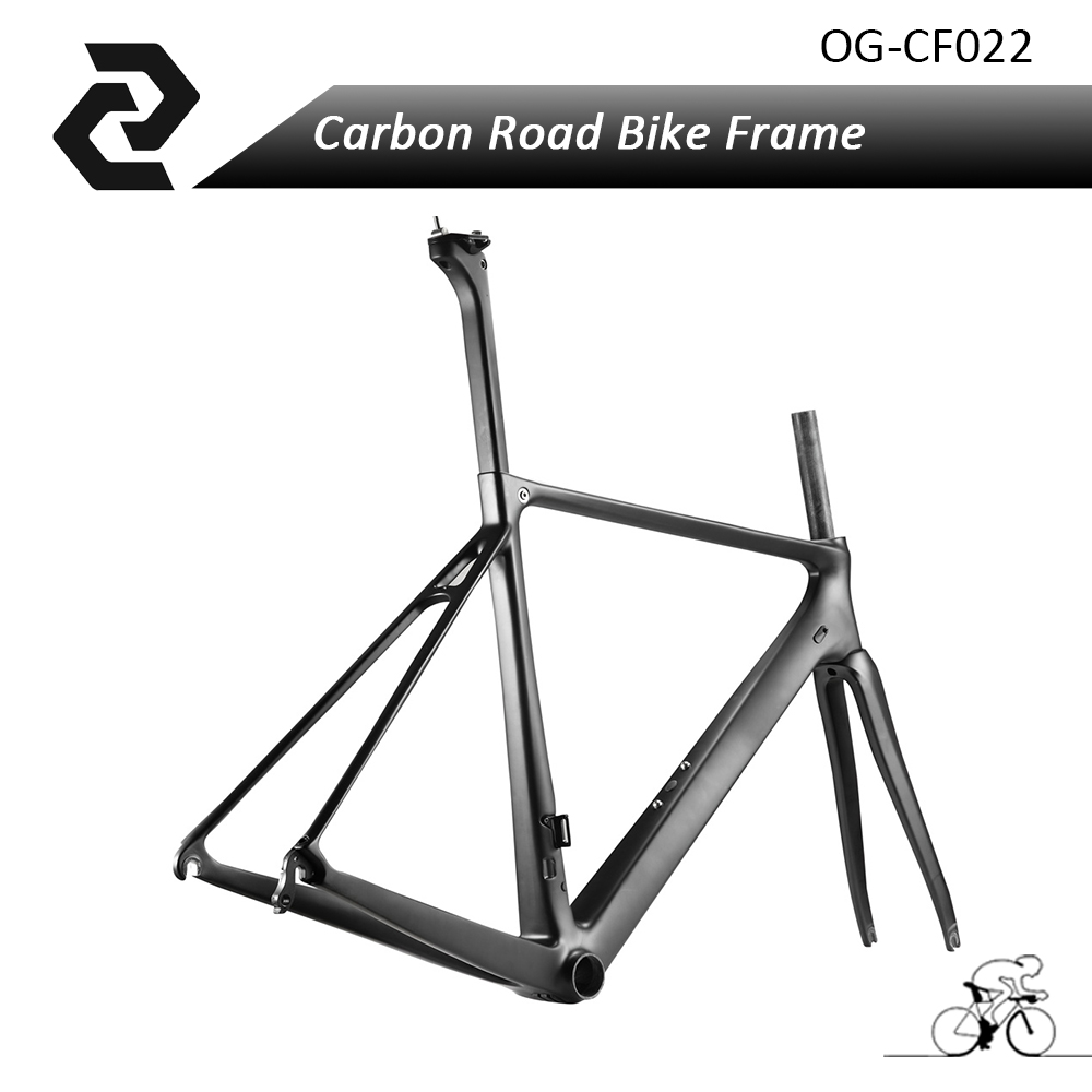 2017 Chinese Carbon Bicycle Frame Road Bike Racing Frameset with Fork,Headset,Seat Post,Clamp Glossy/Matte UD V-Brake DI2 BB86 цена 2017
