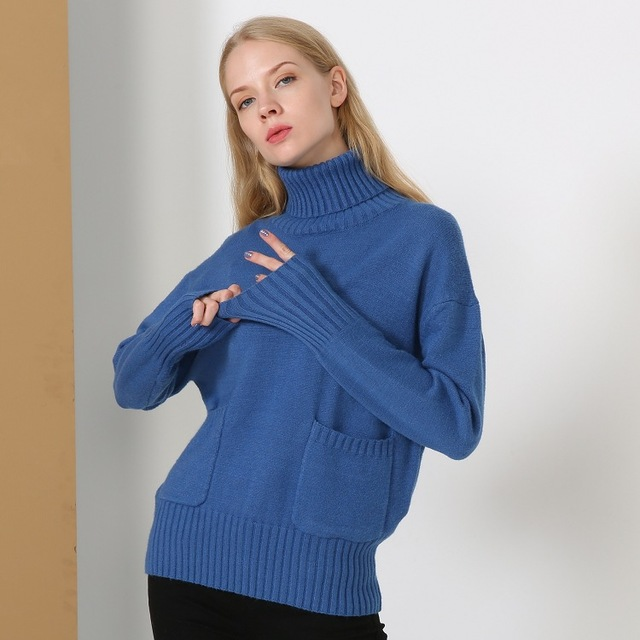 c4cd2a4a82 turtleneck sweater and pullover jumper oversize wool sweater women autumn  winter 2017 warm thick sweater knitted