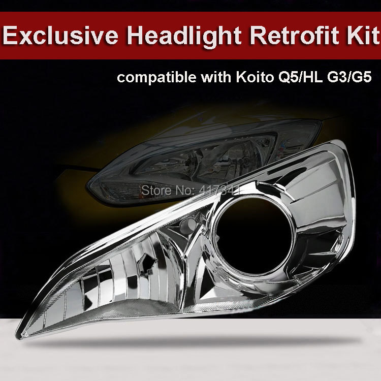 Exclusive Front Headlight Kit Help for Ford Focus Car Upgraded without Damage to Install HID Projector Lens Koito Q5 HL G3/G5 источник света для авто sinolyn q5 koito