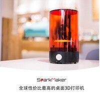 2018 Новый SparkMaker смолы 3d поставки принтера Мини рабочего sla/lcd/dlp 3d принтер