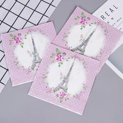 Романтические Эйфелева башня розовые цветы салфетки кафе вечерние салфетки для салфеток украшение в технике декупажа бумага 33 см * 33 см 20