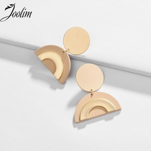 JOOLIM Candy Color Semi Circle Dangle Earring  Painted
