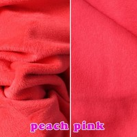 Peach Pink Knitted Cotton Fabric Flannelet Fabric Thermal Underwear Fabric Hoodies Sold By The Yard Free
