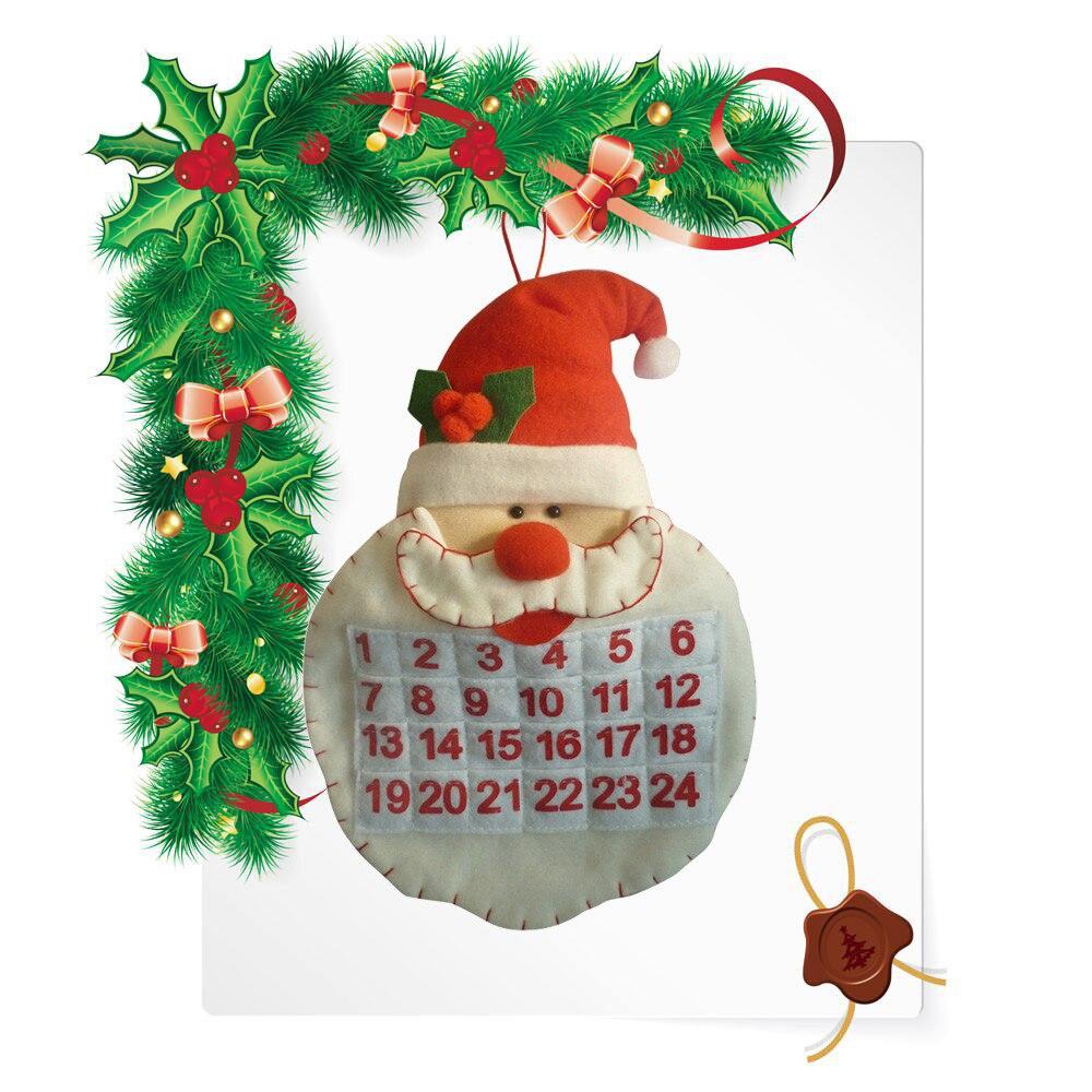 New Year Christmas Tree Decoration Old Man Snow Man Deer Calendar Advent Countdown Calendar christmas decorations for home 2017