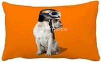 30 cm x 50 cm Laranja Bonito da Cópia Do Cão Personalizado Casa Decorativo Descanso de Lance Decorar Sofá Travesseiro Cadeira Almofada atacado