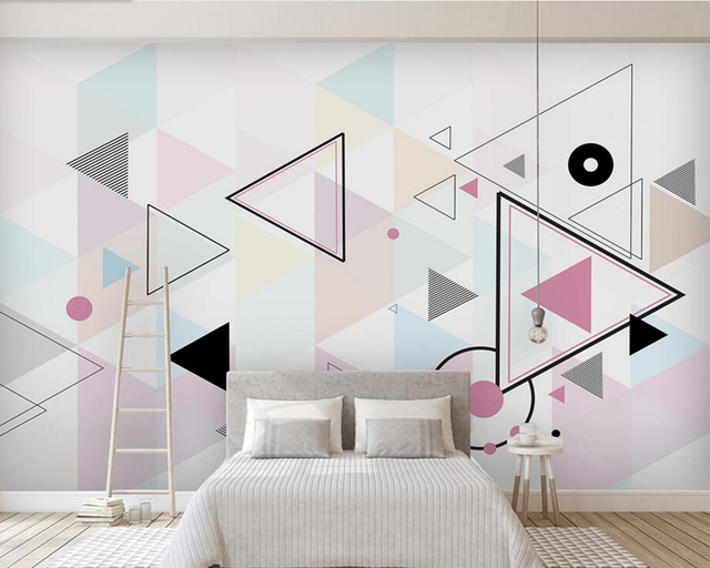Awesome Nordic Minimalist Personality Abstract Geometric Pattern Mural,living Room  Sofa TV Wall Kids Bedroom Wallpaper